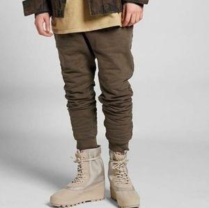 YEEZY Olive Green Sweat pants Joggers SEASON1
